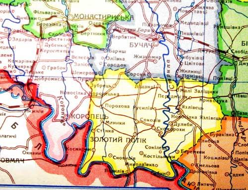 Втрачена ділянка залізниці Хриплин-Монастириська-Бучач